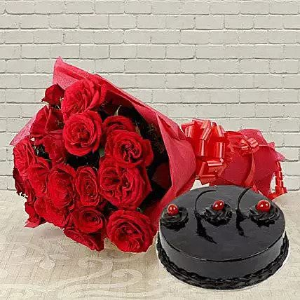 Roses with Chocolate Combo