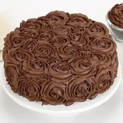 Chocolaty Rose Cake