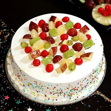 Fresh Fruit Vanilla Cake