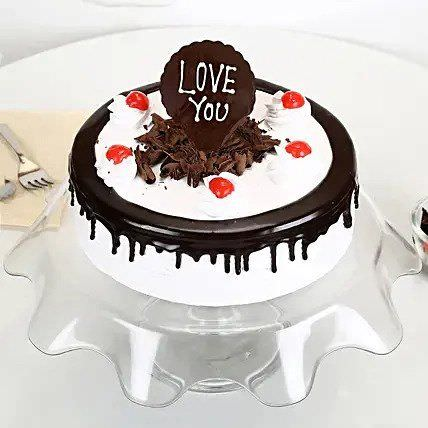 Love You Black Forest Cake