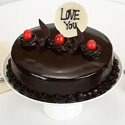 Love You Truffle Cake